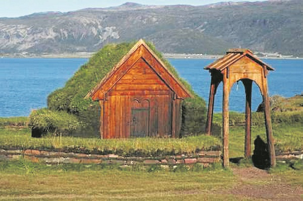 The estate of Brattahlíð, built be Erik the Red in the late tenth century (photo: Hamish Laird)