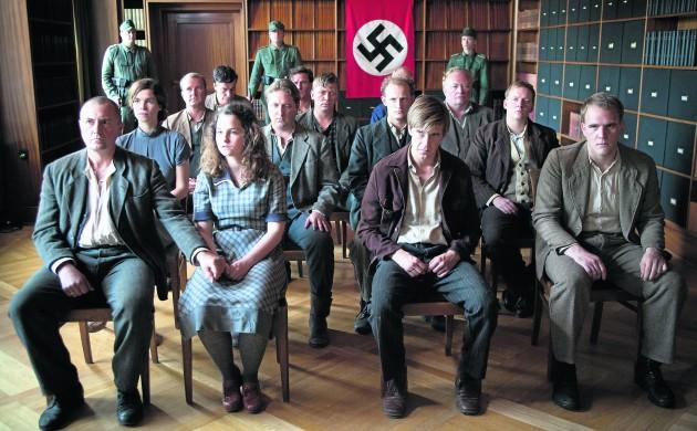 The Hvidsten Group await their fate in 'Hvidsten Gruppen', which was a big success in cinemas across Denmark (photo: UIP)