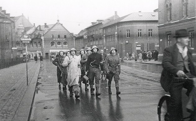 Danish freedom fighters in Odense in 1945 (photo: Nationalmuseet)