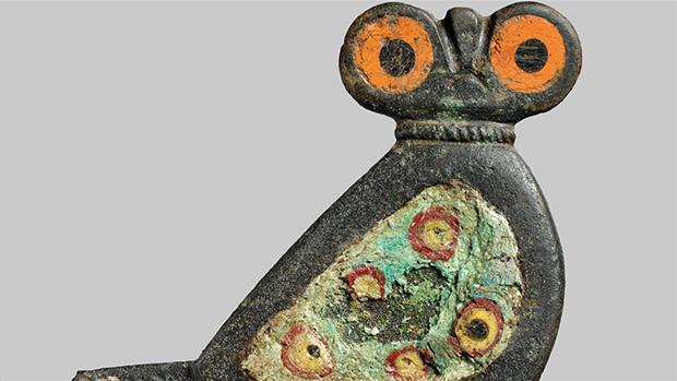 A rare owl clasp has been found on Bornholm (photo: Bornholm's Museum)