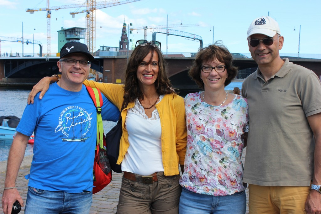 The Germans: Axel, Kerstin Gerke and Klaus and Barbel Fischer