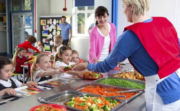 Children Eat Fast Food In Schools