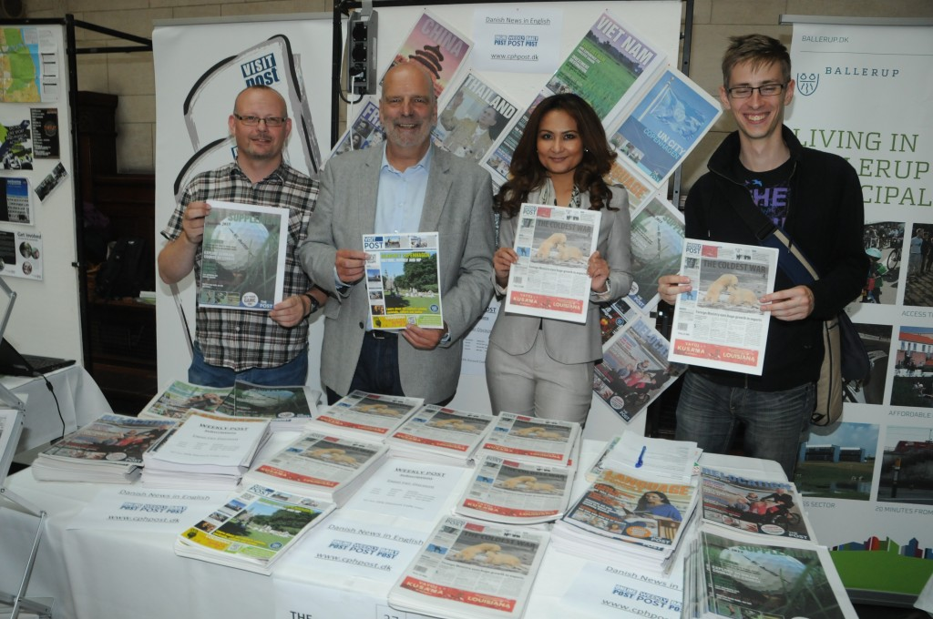 Whether it was (left-right) Cph Volunteers, badminton or even the Copenhagen Post, guests had the opportunity to find out details about organisations in the town they are living in