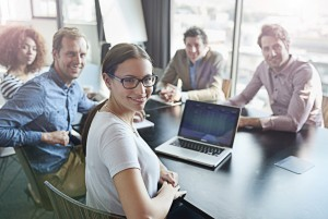 Discussion of improving workplace photy by istock