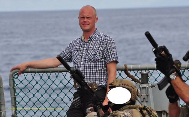 The defence minister, Peter Christensen, witnessed an anti-piracy exercise (photo: Defence Ministry)