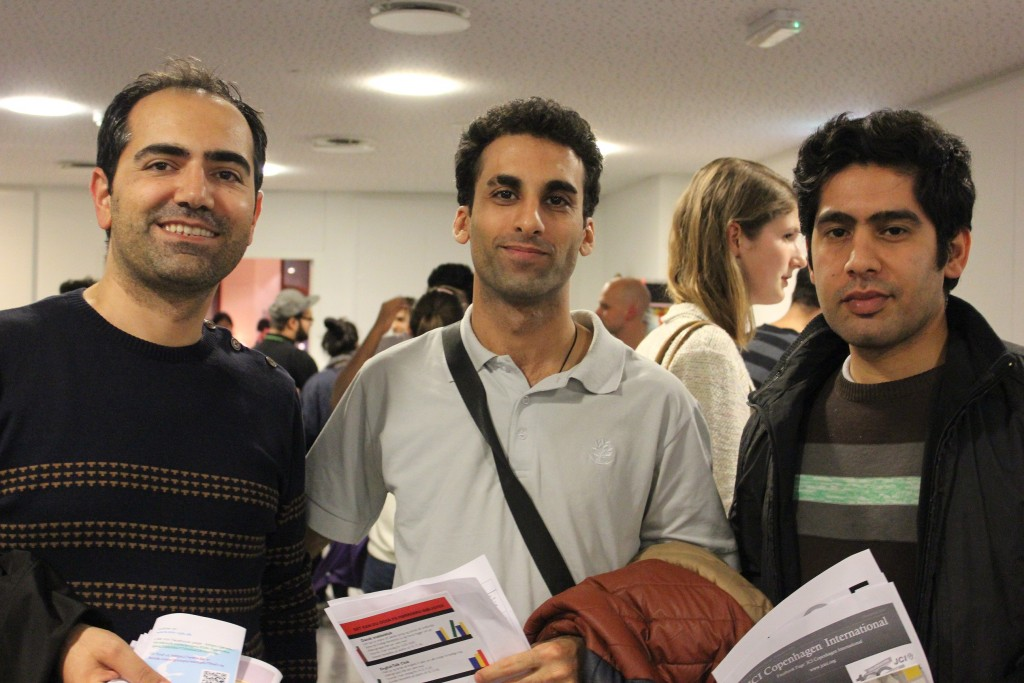 """We just arrived a month ago in Copenhagen on a two-year working visa program. We heard volunteering was a good starting point for finding a job afterwards, as well as practising our Danish and communicating with new people,"" said Ali, Eissa and Aimin (all Iran)"