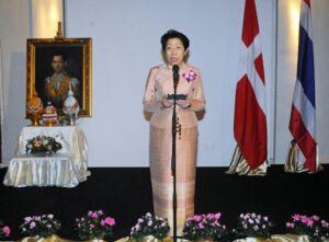 Thai ambassador Vimon Kidchob addressed those gathered.