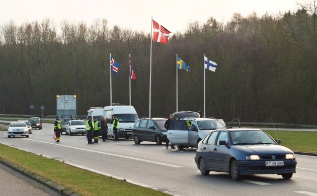 Police at the German-Danish border (photo: Arne List)