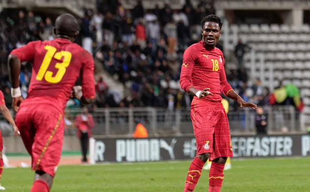 Daniel Amartey in recent action for Ghana against Mali (photo: Pierre-Yves Beaudouin)