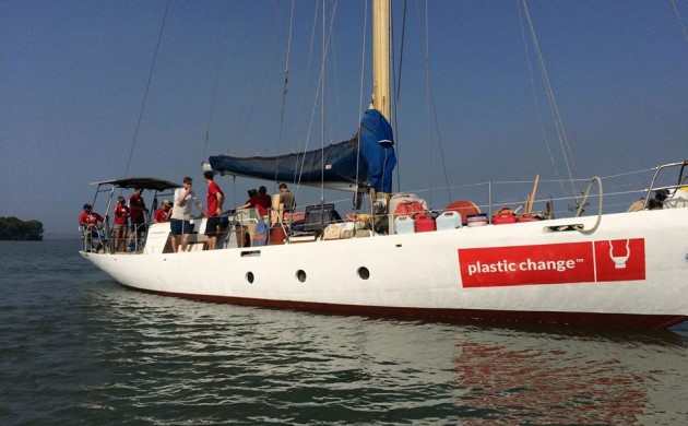 S/Y Christianshavn carries researchers from several Danish universities (photo: Plastic Change)