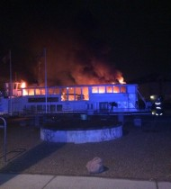 The fire raged for at least 30 minutes before it was put out (photo: HovedstadsBeredskab)