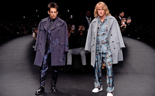 Derek Zoolander and Hansel showing off their brand-new outfits