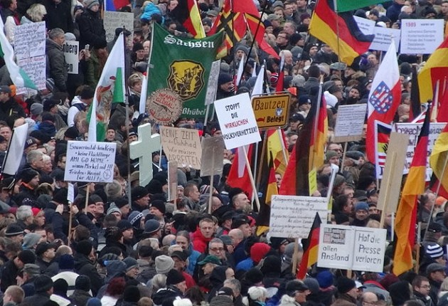 Pegida was founded in the eastern German city of Dresden in 2014 as a protest against Muslim migrants in Germany (photo: Kalispera Dell)
