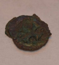 One of the medieval coins found (photo: Viborg Museum)