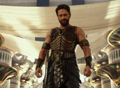 Gerard Butler as Set, the god of darkness