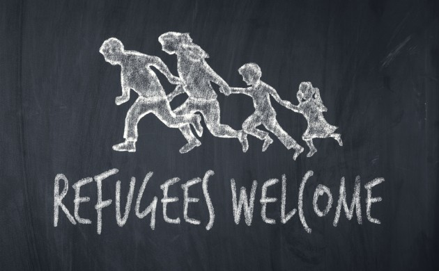 "The demonstrators chanted slogans like ""Refugees welcome""(Photo: iStock)"