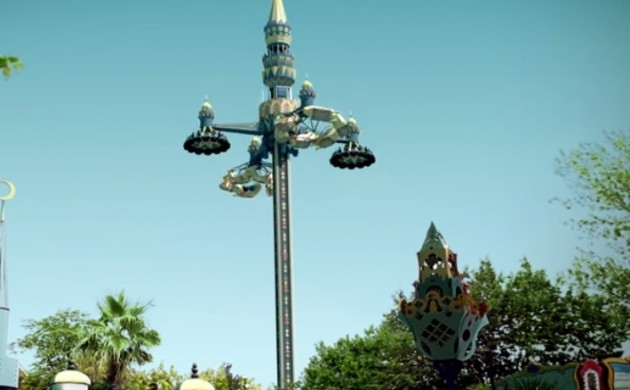 Fatamorgana is a 45-metre tall tower that combines three rides in one (photo: Tivoli)