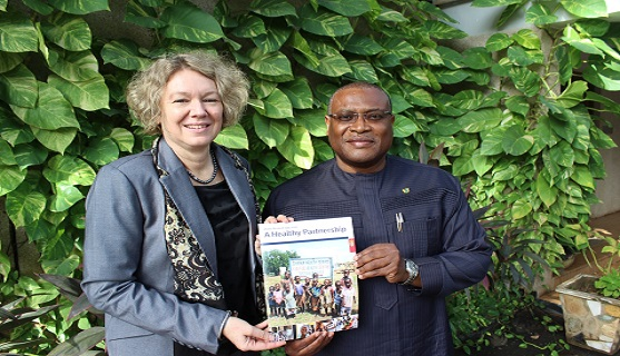 Alex Segbefia and Tove Degnbol in Accra, Ghana (photo: Foreign Ministry)