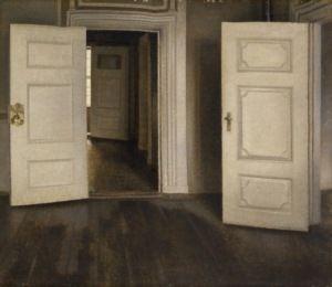 Vilhelm Hammershøi, Hvide døre eller Åbne døre, 1905, Davids Samling, København