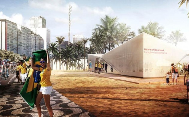The heart of Denmark in the heart of Rio 2016 (photo: Henning Larsen Architects)