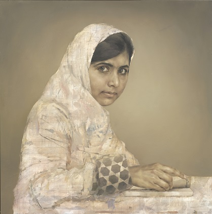 Malala Yousafzai portrayed by  Jonathan Yeo