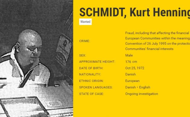 Еще один датчанин вошел в список самых разыскиваемых преступников Европы