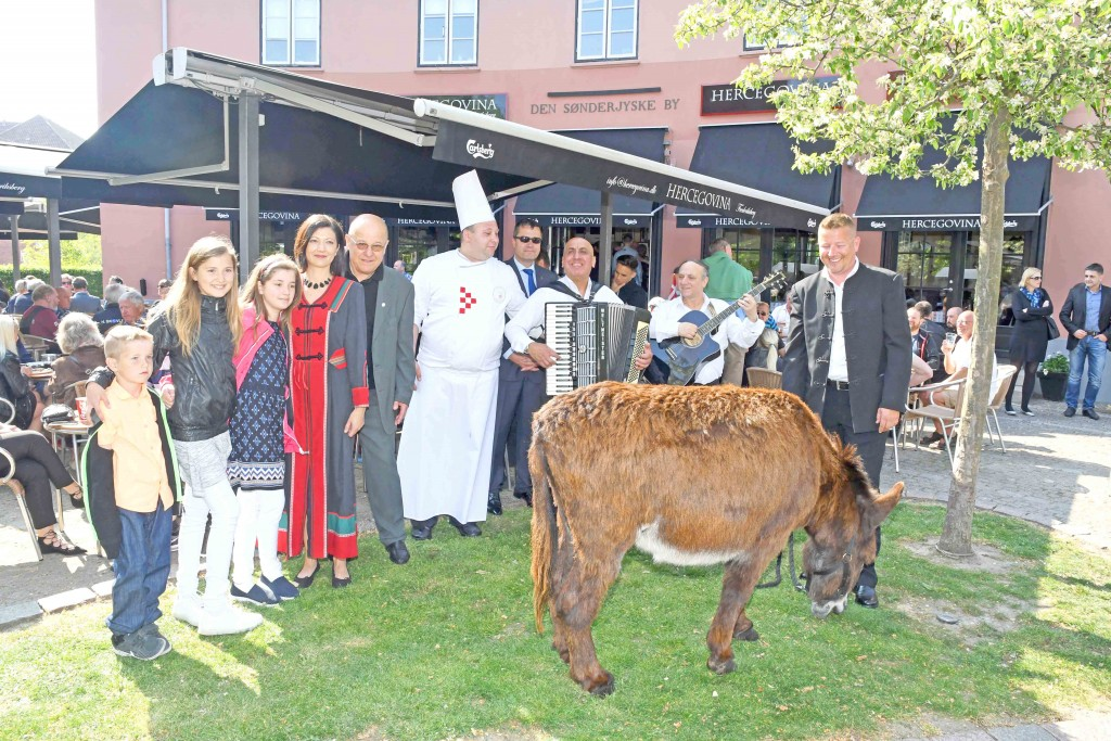 Grand opening of the new Herzegovina restaurant with a donkey (all photo: Hasse Ferrold)