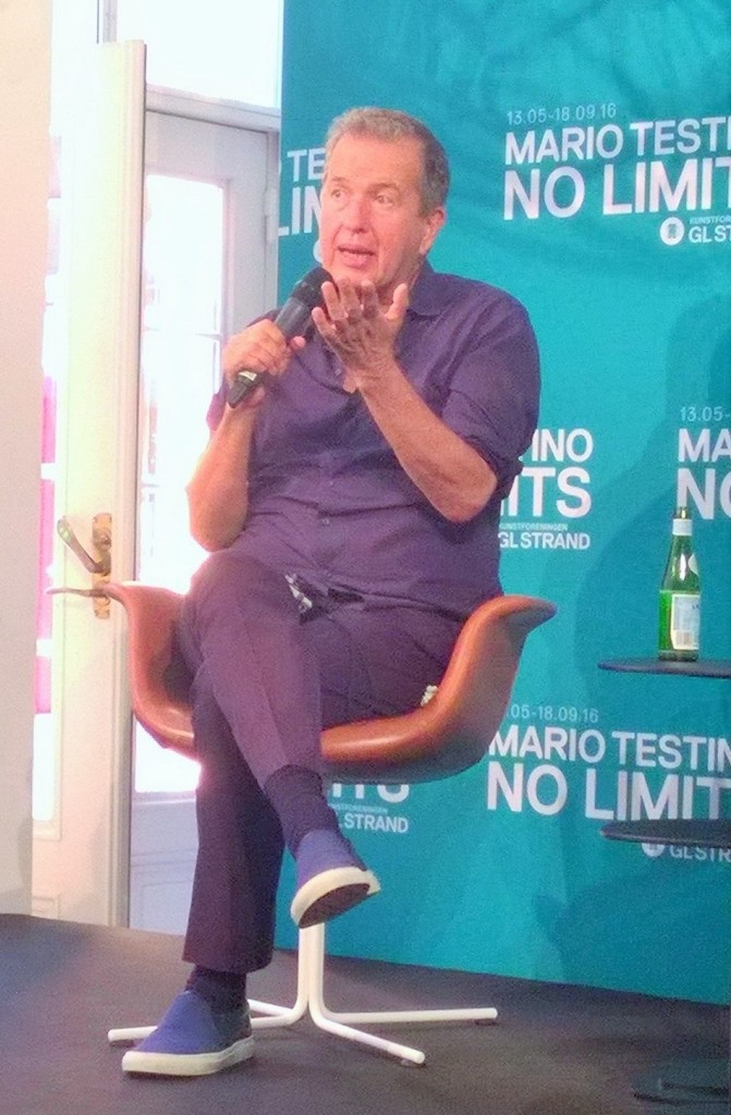 Mario Testino during the press conference at GL Strand (photo: Alessandra Palmitesta)