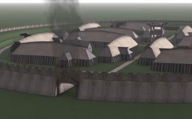 Сегодня была открыта для посетителей крепость викингов Borgring