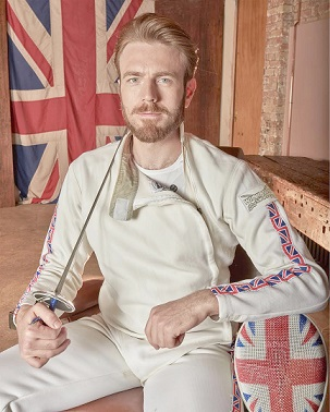 Laurence Halsted will be fencing for Britain with Denmark at his back