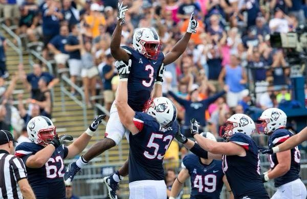 Will Andreas Knappe (53) lift himself into the NFL? (photo: UConn)
