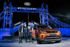 Bear Grylls, Zara Phillips and Ben Ainslie were among those present (photo: Landrover)