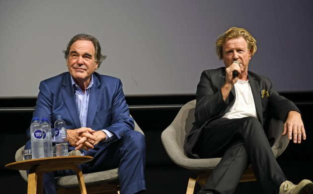 Stone (left) and Mantle doing Q&As (photo: Hasse Ferrold)
