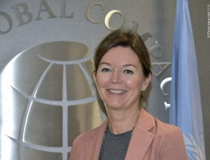 UN Global Compact executive director Lise Kingo at her office at Third Avenue in New York (photo: Irene Hell)