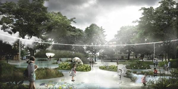 A glimpse into the future of the Skt Kjelds neighborhood (photo: Klimakvarter.dk)