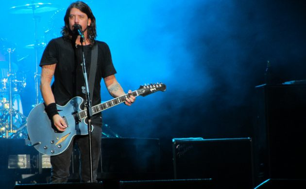 American rock band, Foo Fighters were in sprightly form at this year's Roskilde Festival (Photo Ed Vill)