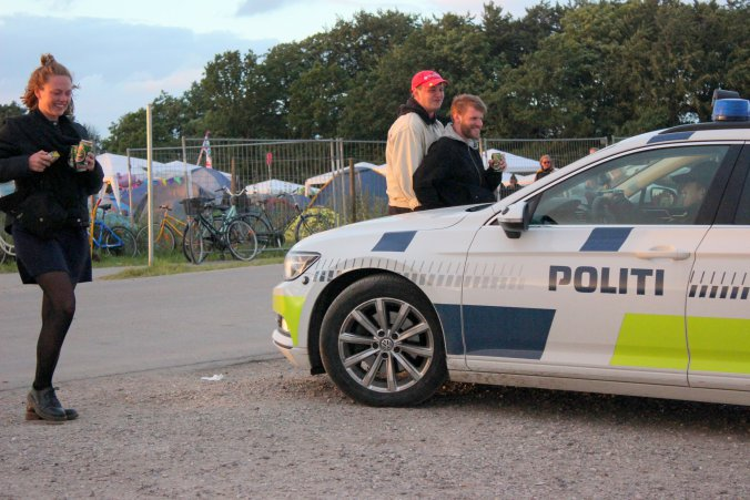 There was a palpable police presence at this year's Roskilde Festival