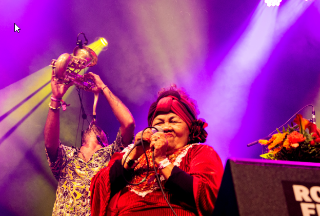 Brazil's 77-year old Dona Onete was one of the standout acts at this year's festival. Picture