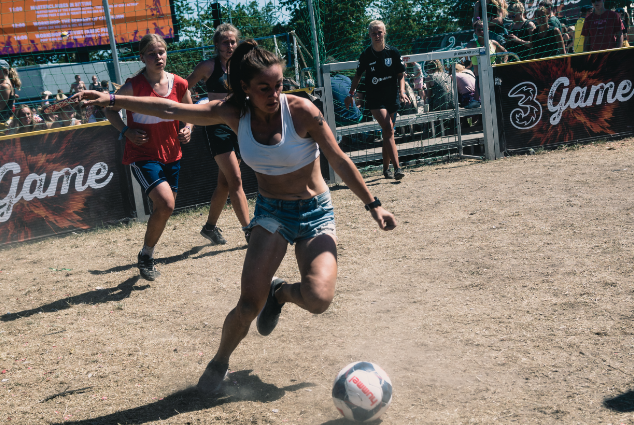 3GAME's street sports activities, held in Roskilde East, focused on the theme of equality. Photo: Rasmus Slotø