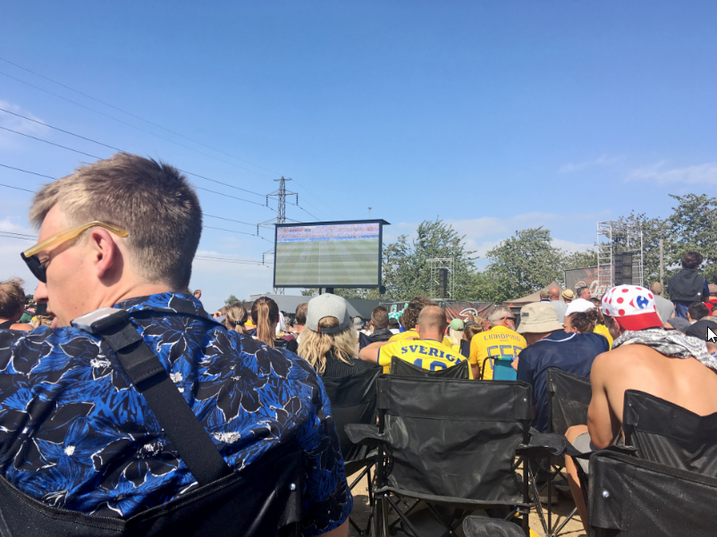 Sweden versus Denmark was one of the matches shown at the screen in East. Picture @ Kortbaek_creative